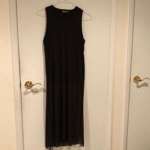 NWOT Zara mesh tank dress with side slits size L
